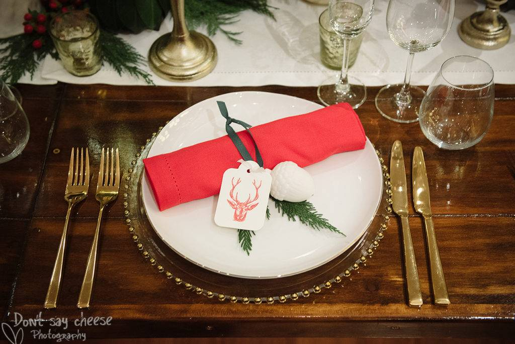 Xmas Dining Table styling