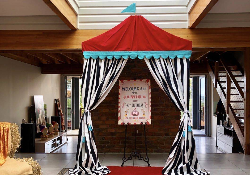Vintage Circus Themed 40th