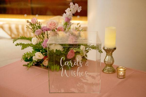 Clear Acrylic Wishing Well with Decal