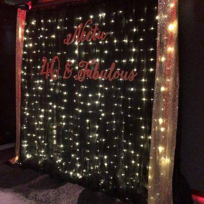 Black Fairy Light Backdrop 2m x 2.4mH