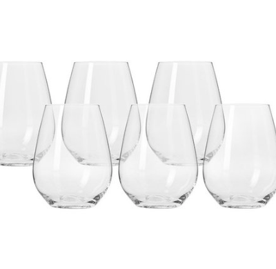 Stemless White Wine or Water Glasses