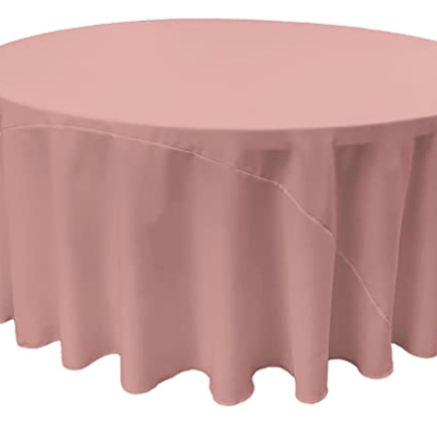 "Dusty Pink Round 120"" Tablecloth"