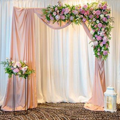 Dusty Pink Draped Arbour