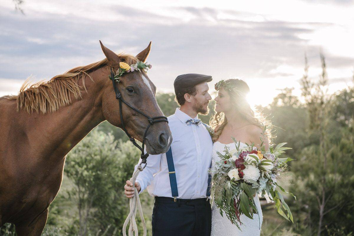 Country Bohemian Styled Shoot – Mt Alford Horse Farm